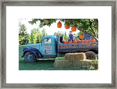Pumpkin Truck Framed Print