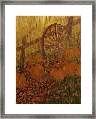Pumpkin Wheel Framed Print by Shiana Canatella