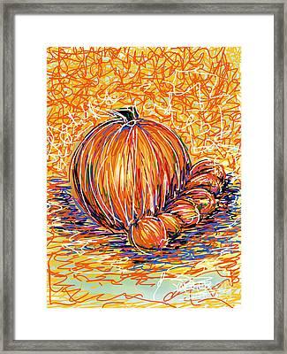 Pumpkinlets Framed Print by Robert Yaeger
