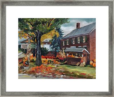 Pumpkins At Bunten Farm Framed Print