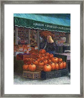 Pumpkins For Sale Framed Print by Susan Savad