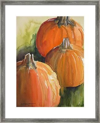 Pumpkins Framed Print by Sandra Strohschein