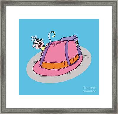 Pun Intended - Funny Design - Puns - Fedora The Explorer - Dora The Explorer Parody - Humour Framed Print by Paul Telling