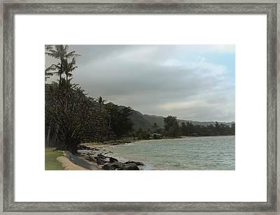 Punaluu Shoreline Framed Print