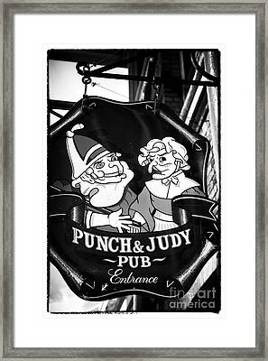 Punch And Judy Pub Framed Print by John Rizzuto