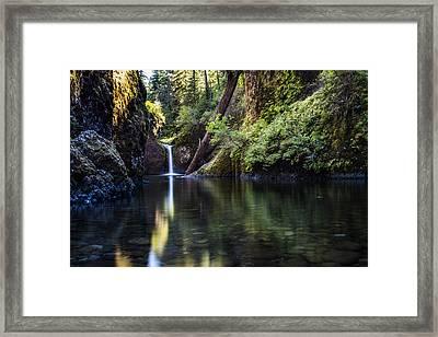 Punch Bowl Falls Framed Print by Pelo Blanco Photo