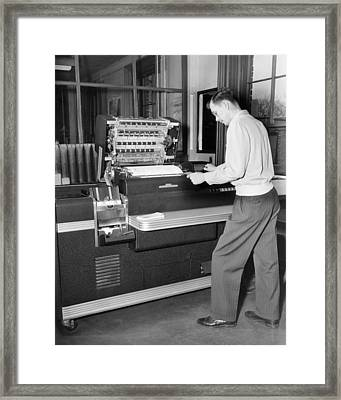 Punch Card Accounting Framed Print by Underwood Archives