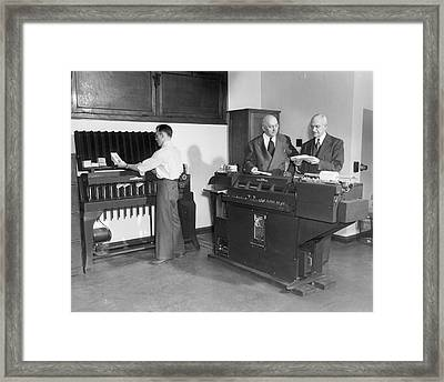 Punch Card Machines Framed Print by Underwood Archives