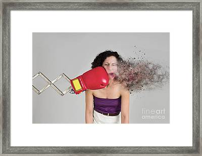 Punch In The Face Framed Print by Ilan Rosen