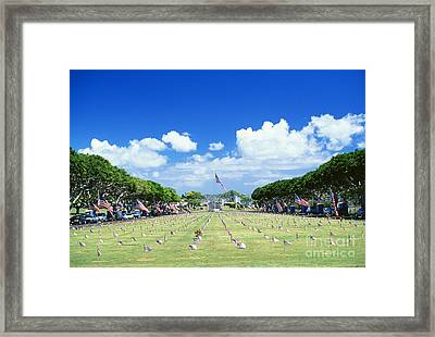 Punchbowl Cemetery Framed Print by Vince Cavataio - Printscapes