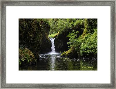 Punchbowl Falls Signed Framed Print