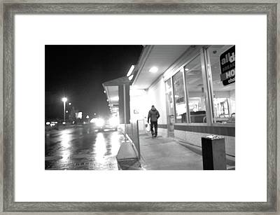 Framed Print featuring the photograph Punching In by Jeanette O'Toole