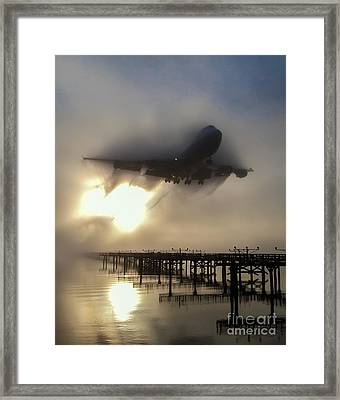 Punching Thru Framed Print