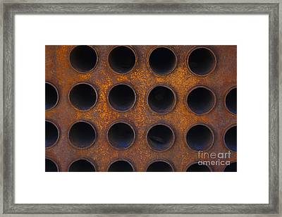 Punctured Yellow Framed Print by Jennifer Apffel