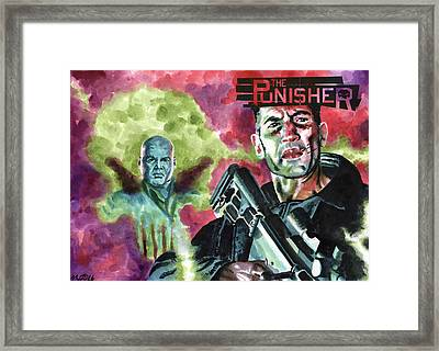 Punisher Framed Print by Ken Meyer jr