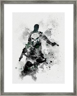 Punisher Framed Print by Rebecca Jenkins