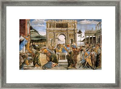 Punishment Of Korah, Dathan And Abiram Framed Print