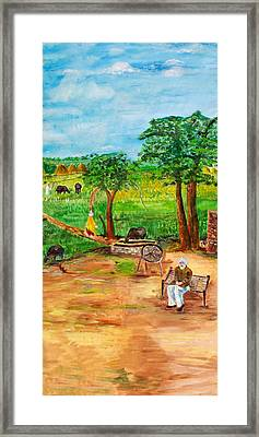 Punjabi Farmer Framed Print