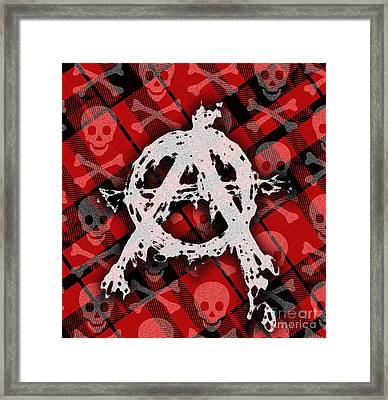 Punk Anarchy Framed Print