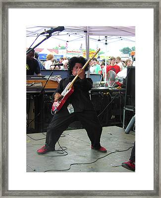 Punk Guitar Solo Framed Print