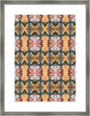 Punk Rock Opera Pattern Framed Print