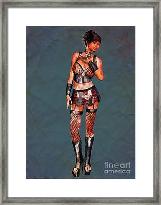 Punk Rocker Pop Art By Mary Bassett Framed Print
