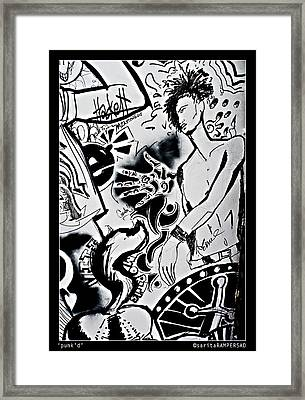 Punk'd Framed Print by Sarita Rampersad