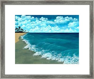 Punta Cana Beach Framed Print by Anastasiya Malakhova