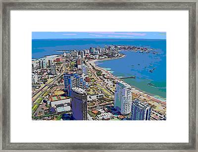 Punta Del Este Framed Print by Rod Saavedra-Ferrere