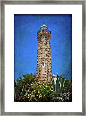 Framed Print featuring the photograph Punto Doncela Lighthouse by Mary Machare