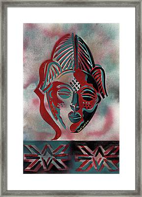 Punu Mask Framed Print