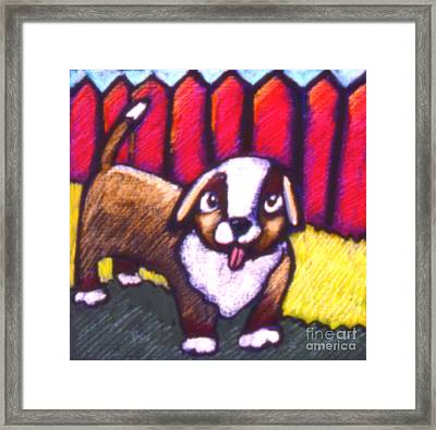 Pup Framed Print by Angelina Marino