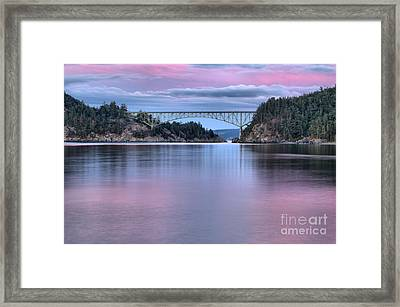 Purple Skies Over Deception Pass Framed Print