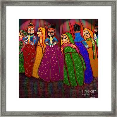 Puppet Show Framed Print