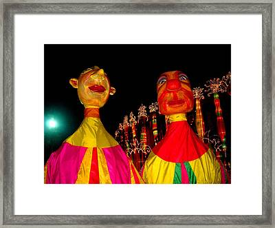 Puppets Framed Print by Fareeha Khawaja
