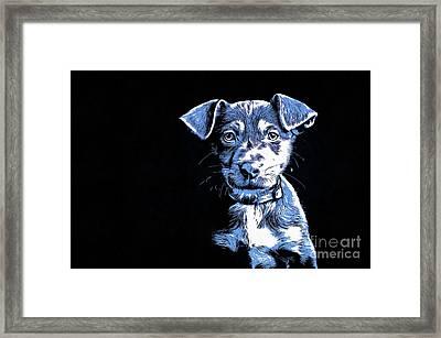 Puppy Dog Graphic Novel  Framed Print by Edward Fielding