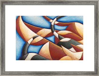 Puppy Dog Tails Framed Print by Mary Anne Nagy