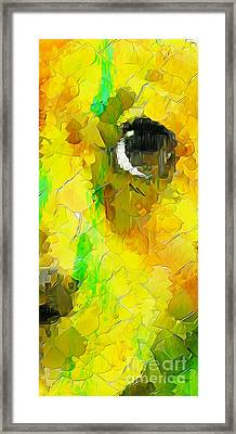 Puppy Eye In The Colors Framed Print