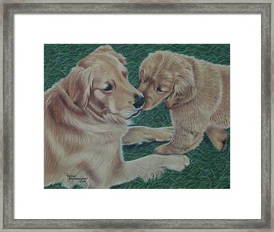 Puppy Kisses Framed Print