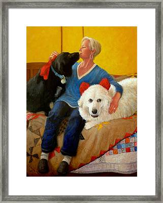 Puppy Love Framed Print by Donelli  DiMaria