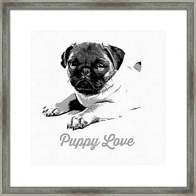 Puppy Love Framed Print by Edward Fielding
