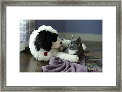 Framed Print featuring the photograph Puppy Love by Linda Mishler