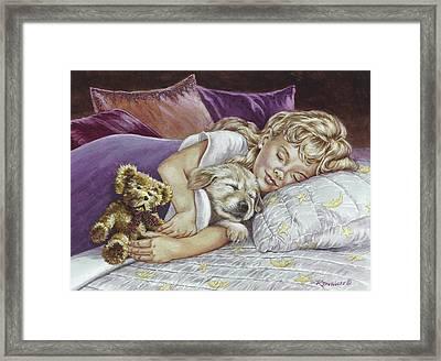 Puppy Love Framed Print by Richard De Wolfe