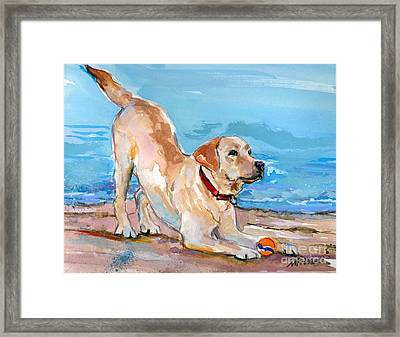 Puppy Pose Framed Print