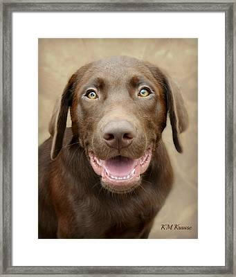 Puppy Power Framed Print by Kathy M Krause