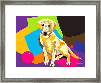 Puppy Princess And The Pillows Framed Print by Su Humphrey