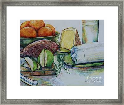 Purchases From The Farmers Market Framed Print by Anna Mize Bell