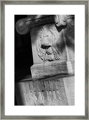 Purdue Lion Fountain Framed Print by Coby Cooper