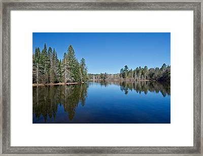 Framed Print featuring the photograph Pure Blue Waters 1772 by Michael Peychich