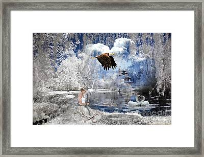 Pure Hearted Warrior Framed Print by Dolores Develde